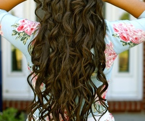 beautiful, brunette, and curls image