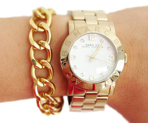 watch, gold, and marc jacobs image