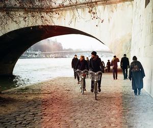 bike, people, and vintage image