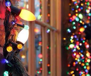 christmas, lights, and window image