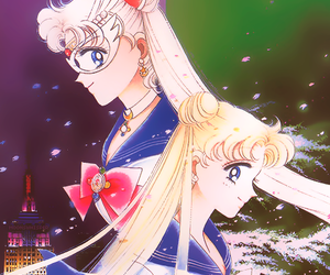sailor moon and sailor v image