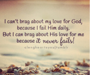 gods love never fails and love 4 god image