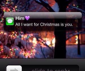 love, christmas, and him image