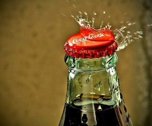 coca cola, coca-cola, and drink image