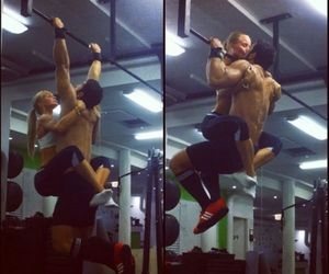 love, couple, and fitness image