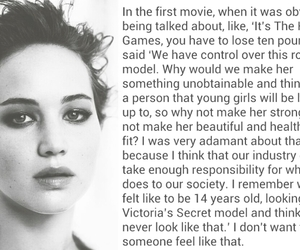 Jennifer Lawrence, hunger games, and quote image
