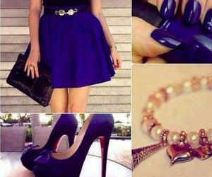 blue, nails, and dress image