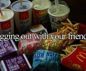 food, friends, and McDonalds image