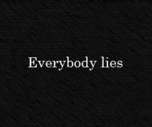 black, lies, and quote image