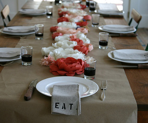buffet, flowers, and inspiration image