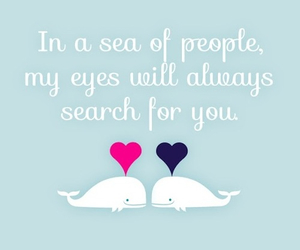 love, sea, and quote image