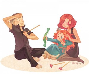 black widow, hawkeye, and brave image