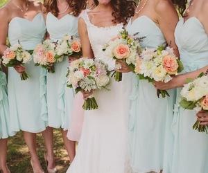boda, damas de honor, and celeste image