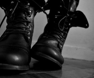 black, winter, and boots image