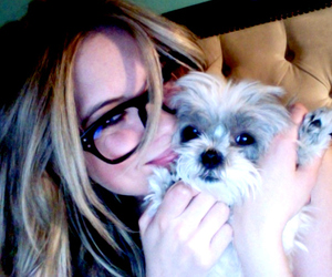 ashley benson, pretty little liars, and dog image