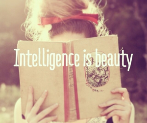 intelligence, book, and beauty image