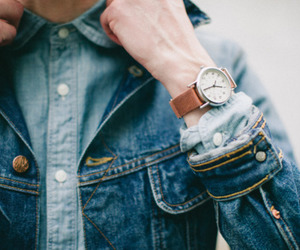 watch, jeans, and vintage image