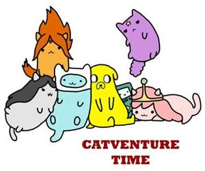 adventure time, cat, and catventure time image