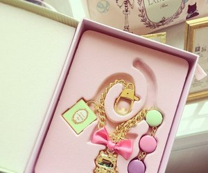 laduree, pink, and bracelet image