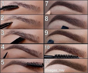 eyebrows, how to, and tutorial image