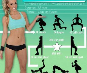 exercise, fitness, and legs image