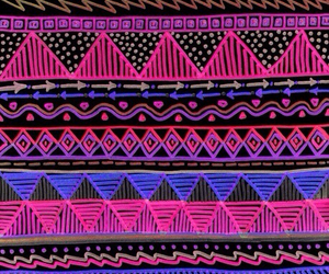 wallpaper, aztec, and pink image