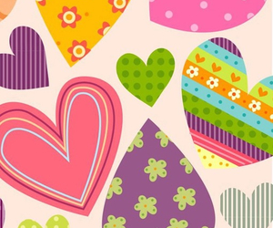 hearts, colorful, and wallpaper image