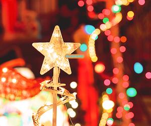 christmas, lights, and star image