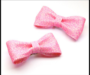 bows, glitter, and pink image