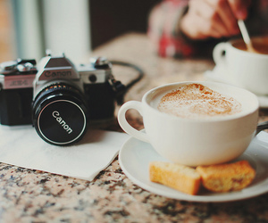 breakfast, canon, and cake image