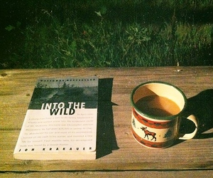 book, into the wild, and coffee image