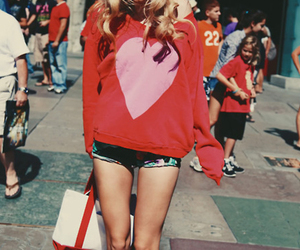 girl, heart, and fashion image
