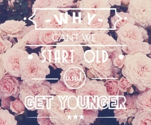 quote, floral, and old image