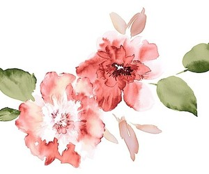 art, watercolor, and watercolor flower image