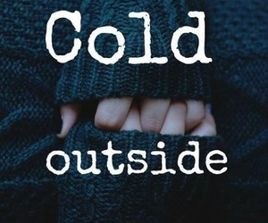 cold, winter, and outside image