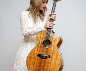 Taylor Swift, beautiful, and guitar image