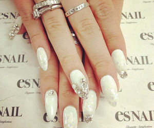 chic, nails, and diamond image