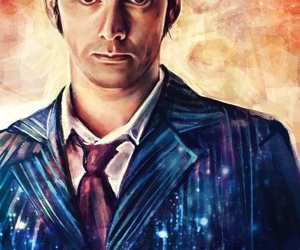 doctor who, david tennant, and art image