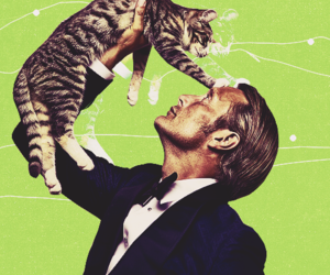 mads mikkelsen, cat, and hannibal image