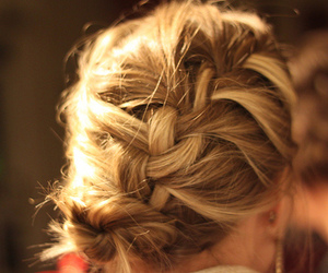 blond, braid, and hairstyle image