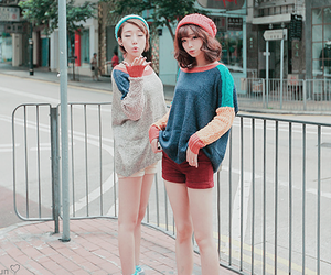 cute girl, korean fashion, and sweet image