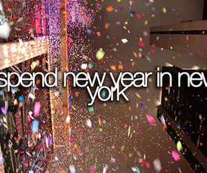 new year, new york, and bucket list image