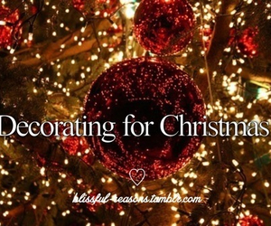 christmas, decorating, and winter image