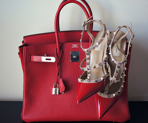 bag, shoes, and red image