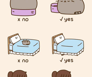 pusheen, cat, and sleep image