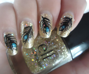 glitter and peacock image