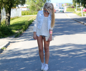girl, fashion, and blonde image