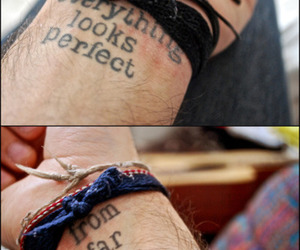 perfection, quotes, and tattoo image