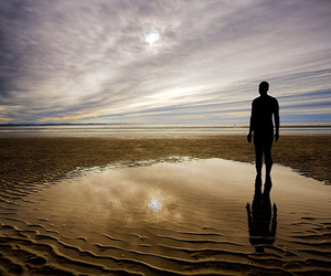 alone, beach, and Liverpool image