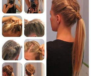 diy, hairstyle, and hey image